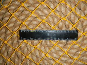 ячея 40мм желт 300x225 Сети для ограждения